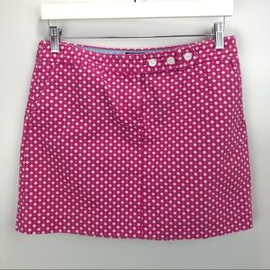 J Crew Sailor Mini Skirt 100% Cotton Pink 8